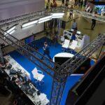 Аренда фермовой конструкции под ключ, для стенда телекомпании «Шаг России» в рамках выставки «Дни Дальнего Востока» в Москве.